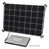 Voltaic Systems 17 Watt Rapid Solar Panel Charger for Laptops (Including MacBooks with an Adapter) | Includes a Battery Pack (Power Bank) and 2 Year Warranty - Silver