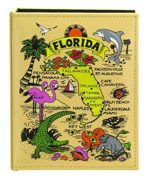 Florida Map Embossed Photo Album 200 Photos / 4x6