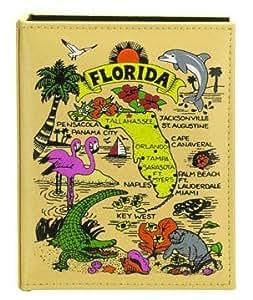 Florida Map Embossed Photo Album 200 Photos / 4x6