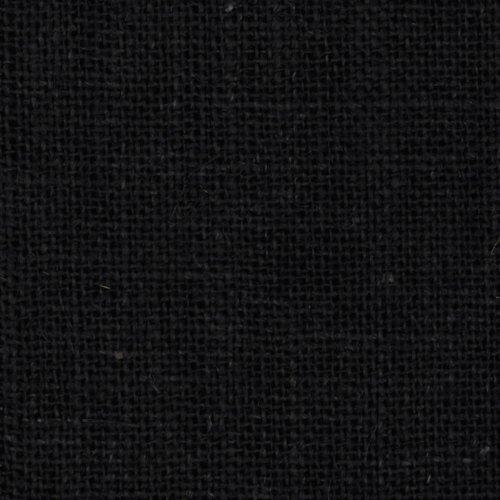 James Thompson & Co. 60in Sultana Burlap Black Fabric by The Yard, Black UL-776