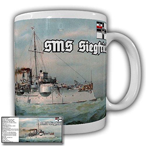 SMS Siegfried with data Coast Guard ship German Imperial Navy - Coffee Cup Mug