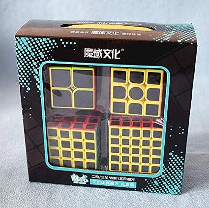 Cubo Mágico Box Moyu 2x2 + 3x3 + 4x4 + 5x5 Carbon