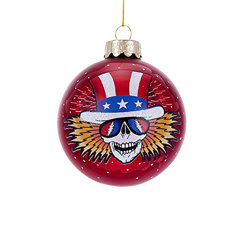 Kurt Adler GD4171 80mm Grateful Dead Glass Ball (Dead Christmas Grateful Tree)