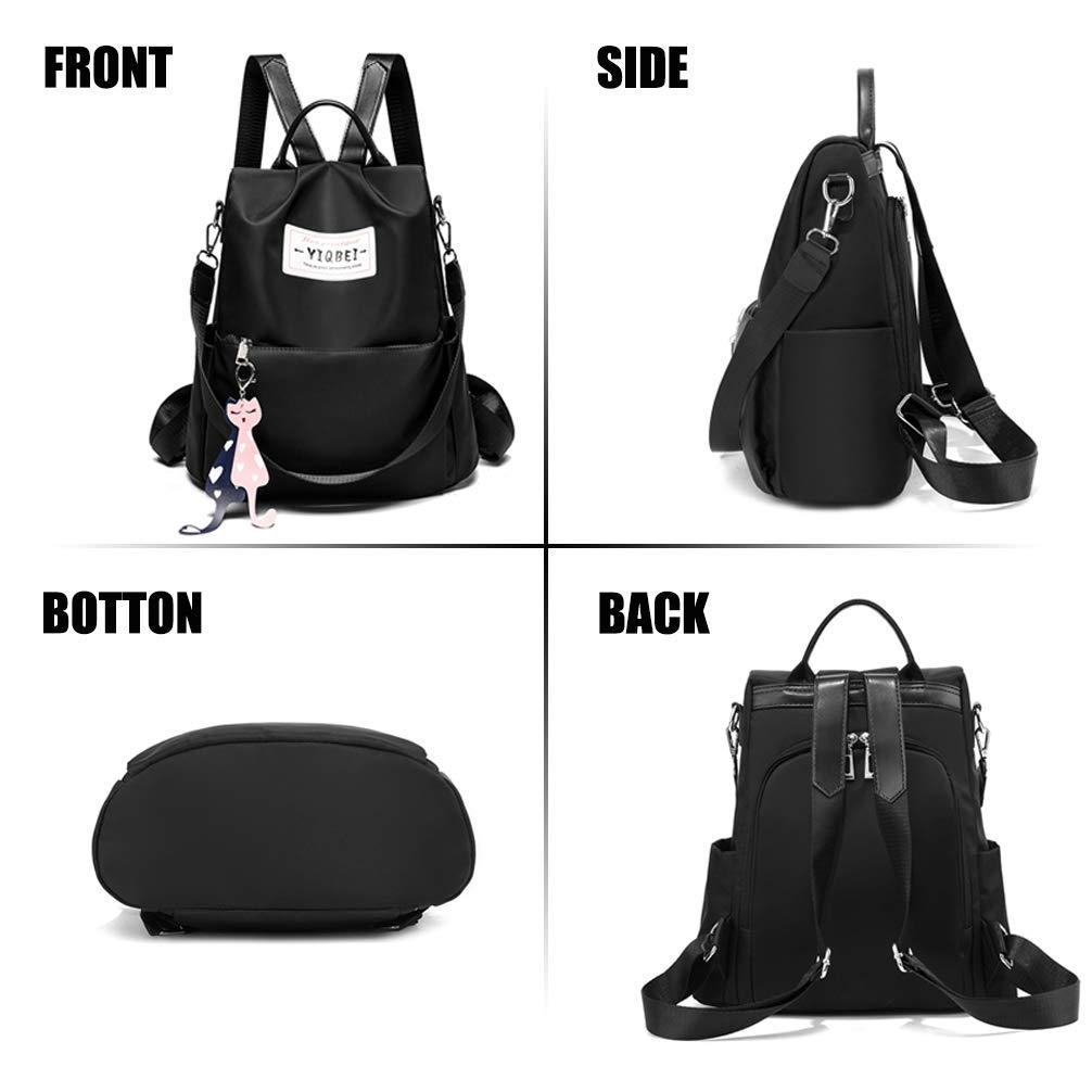 Women Backpack Purse Waterproof Nylon Anti-theft Rucksack Casual Lightweight Shoulder Bag