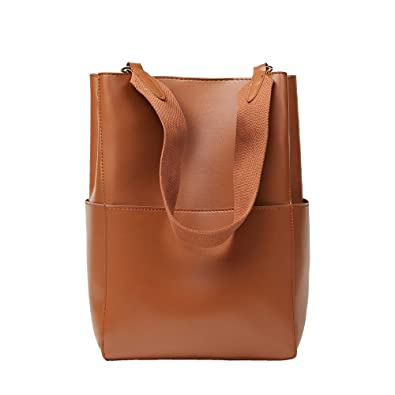 b3337184d1d398 VIVI & PERA Qualität Glattleder Totes Tasche Extra Kosmetiktasche, Retro  Handtaschen Damen, Vertikale Umhängetasche
