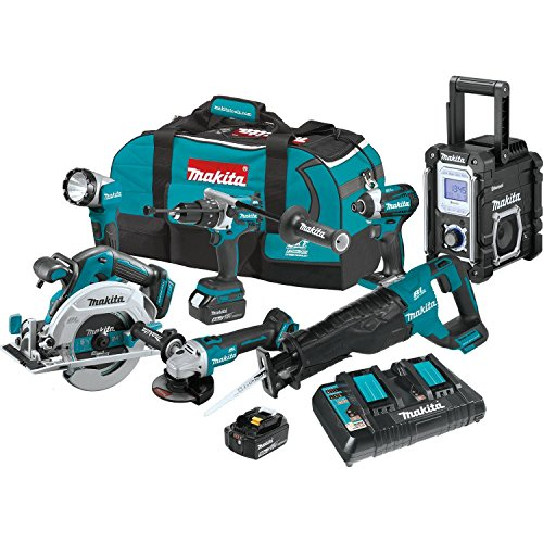 Makita XT705PT 18V LXT Lithium-Ion Brushless Cordless 7-Pc. Combo Kit 5.0Ah