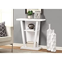 Monarch Specialties Hall Console Accent Table, 32-Inch, White
