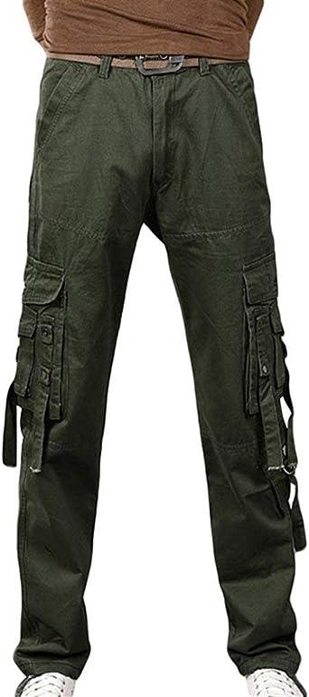 Nero Vintage Cargo Pantalones Pantalones De Tela Para Hombres Pantalones De Carga Pantalones De Trabajo Pantalones Casuales Pantalones Al Aire Libre Con Bolsillos Amazon Es Ropa Y Accesorios