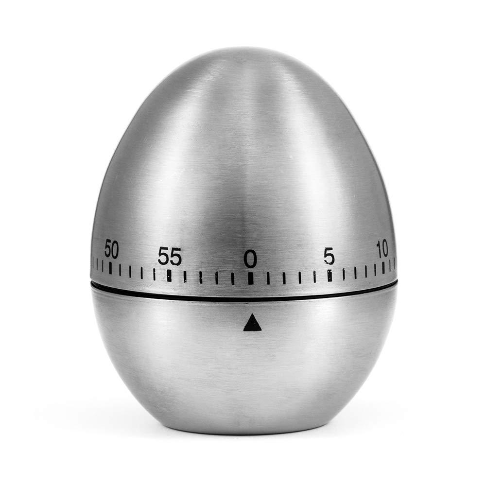 Temporizador de Cocina ZOETOUCH Temporizador de Acero Inoxidable Magnético y Mecánico Estilo Huevo, 60 Minutos: Amazon.es: Bricolaje y herramientas