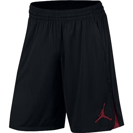 Nike 23 Alpha Dry Knit, Pantaloncino Uomo, Nero/Rosso, S