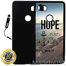 Custom Google Pixel 2XL Case (Hope Anchors The Soul Hebrews) Plastic Black Cover Ultra Slim | Lightweight | Includes Stylus Pen by Innosub
