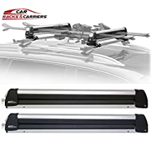 Car Rack & Carriers© Ski Car Rack 6 Pairs Skis, Snowboard Car Rack 4 Boards Roof Carrier, Fit most of the flat and round and thick crossbars