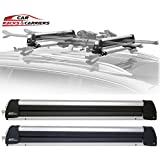 Car Rack & Carriers Ski Car Rack 6 Pairs Skis, Snowboard Car Rack 4 Boards Roof Carrier, Fit most of the flat and round and thick crossbars