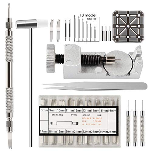 (Watch Link Remover kit for Watch Band Adjustment and Repair)