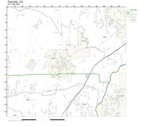 ZIP Code Wall Map of Palmetto, GA ZIP Code Map Laminated]()