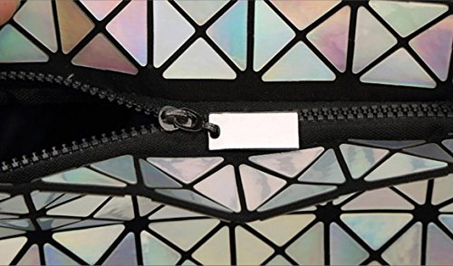 body Shoulder Cross Fashion Purse Plaid Women's Strap Kayers Chain Bag Sulliva White with Geometric Black Metal RW1w0HEYXq