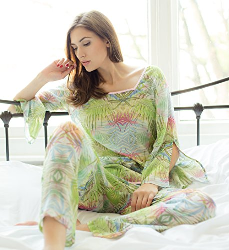 Cotton Real - Ensemble de pyjama - Femme vert Green