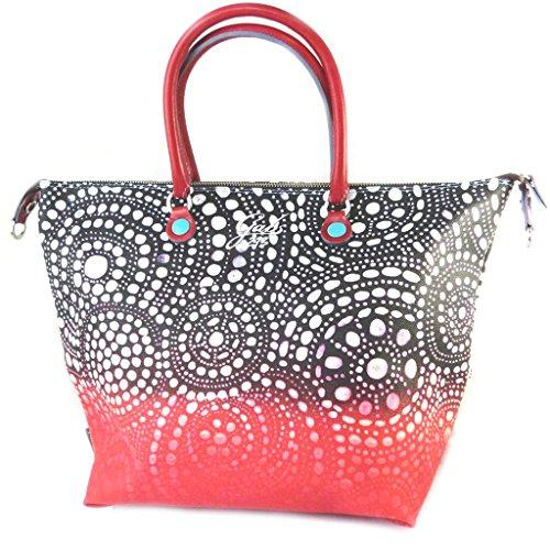 3 en 1 bolso 'Gabs'negro rojo (l)- 43x37x2.5 cm.
