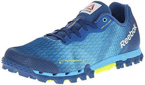 Reebok Women's All Terrain Super 2.0 Running Shoe, Neon Blue/Handy Blue/Instinct Blue/Solar Yellow, 9 M US