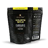 GoldynGlow GOLDYN MYLK - Organic Turmeric Superfood Blend with Cacao. Golden Milk Elixir Helps with Adrenal Health and Stress. Anti-inflammatory, Antioxidant, Vegan, Gluten-Free Adaptogen