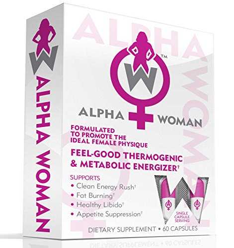 ALPHA WOMAN Fat Burner - Weight Loss Supplement For Women, 4-In-1 Feel Good Thermogenic Energizer, Libido Booster, Appetite Suppressant & Mood Enhancer, 60 Capsules