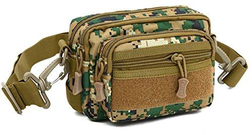 Panegy - Bolso de Táctico Nylon MOLLE Bolso de Hombro Riñonera para Hombre al Aire Libre Camping Senderismo Ejército 3