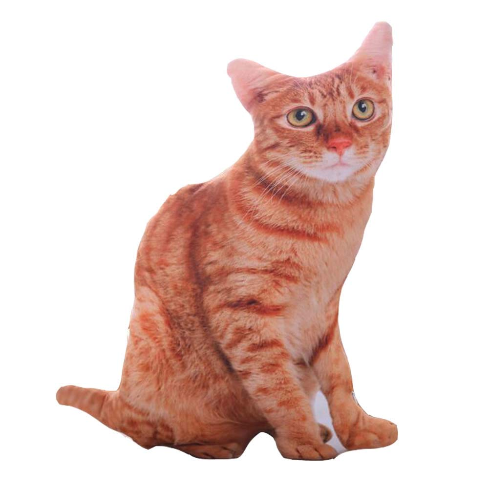 East Majik Animal Pillow Simulation 3D Plush Toy Cute Cat Shape Pillow #2