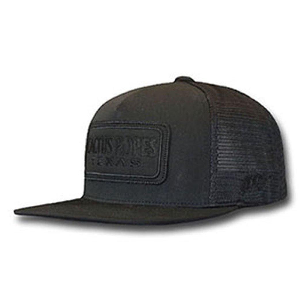 Hooey Brand Cactus Ropes Black/Black Snapback Trucker Hat - CR025