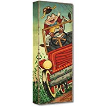 """The Adventures of Ichabod and Mr. Toad:""""The Wild Ride"""" by Trevor Carlton - Limited Edition 1,500 Gallery Wrapped Canvas - 24x9 NEW - Disney Treasures on Canvas - Published by Disney Fine Art"""