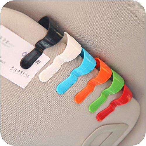 - YOUNGFLY 4Pcs Multi-purpose Car Vehicle Visor Accessories Sunglasses Glasses Card Pen Holder Ticket Clip Universal