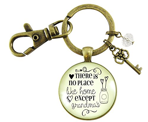 - Grandmother Keychain There Is No Place Like Home Except Grandma's House Vintage Bronze Key Ring Gift Charm