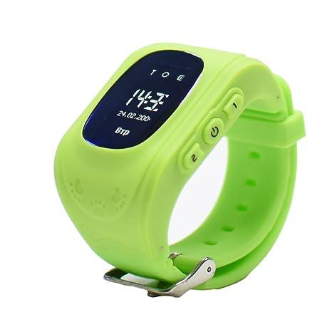 9Tong Reloj para Niños Q50, Reloj Infantil Pulsera Inteligente Localizador Pantalla OLED con Smartphones (