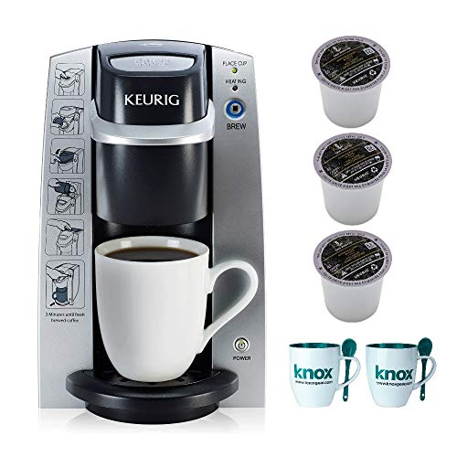 Keurig B130 K-Cup Coffee Maker DeskPro Brewing System Includes 6 Van Houtte K-Cups and 2 Mugs - System Deskpro