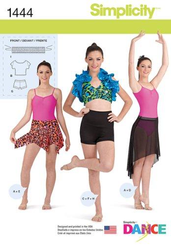 (Simplicity Creative Patterns 1444 Misses' Knit Dancewear, D5 (4-6-8-10-12))