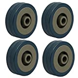 Best Rubber Wheels - uxcell 2-inch Diameter Rubber Wheel Skateboard Trolley Caster Review