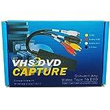 Lvozize VHS to Digital DVD Converter Adapter, Video Capture Grabber Device,Transfer S-Video RCA
