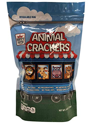 Happy Snacks Natural, Wholesome Animal Crackers, 8 Ounce Resealable Bag (Pack of ()
