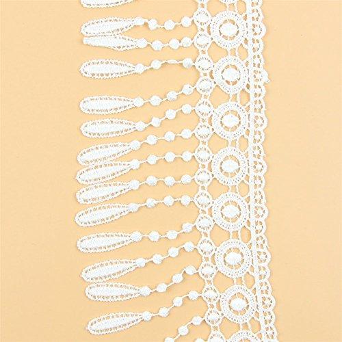 Yontree Floral Venise Lace Applique Bridal Wedding Applique White 3 Yards