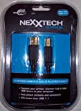 Nexxtech Ultimate Hi-Speed Certified USB 2.0 Gold Cable - (6 Feet / 1.8m)