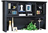 kathy ireland Home by Martin Tribeca Loft Black Hutch with Sliding Doors - Fully Assembled