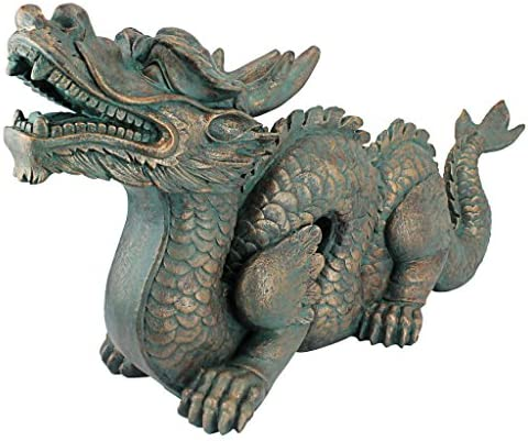 Design Toscano AL25253 Asian Dragon of The Wall Garden Statue