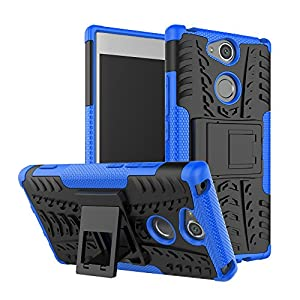 """Sony Xperia XA2 Case, Linkertech [Shockproof] Tough Rugged Dual Layer Protector Hybrid Case Cover with Kickstand for Sony Xperia XA2 (2018) 5.2"""""""