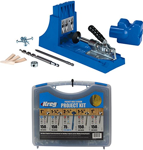 (Kreg Jig K4 Pocket Hole System and Kreg SK03 Pocket-Hole Screw Kit )