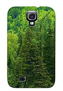 XBmhp0bZXIm Freshmilk Awesome Case Cover Compatible With Galaxy S4 - Nature Autumn Season Siberia Tree Trees Forest Green Landscapes