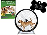 GoPet Large Treadwheel Indoor/Outdoor Dog Exercise Wheel for Dogs Up to 150 Pounds (Model #: CS6012) with FREE Custom Bone Shaped Dog Tag and E-Book