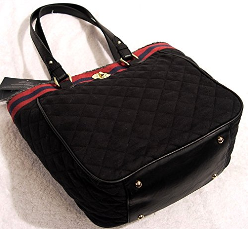 Handbag Black Purse Quilted Tote Bag Hilfiger Tommy qPYIzwSw