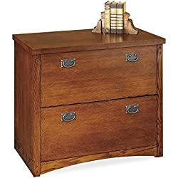 Martin Furniture Mission Pasadena 2-Drawer Lateral File Cabinet