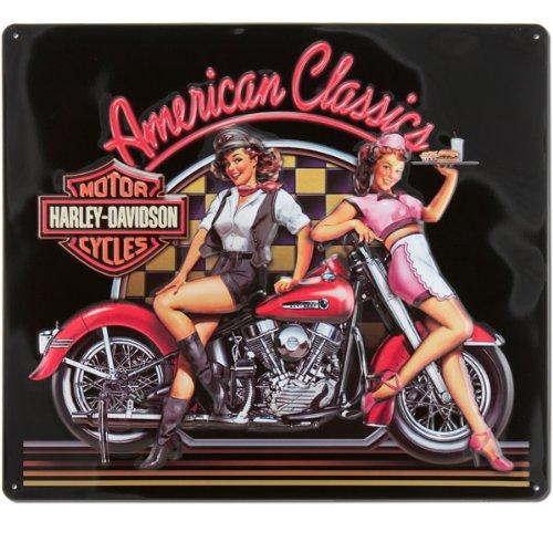HARLEY-DAVIDSON American Classic Babes - Cartel de hojalata ...