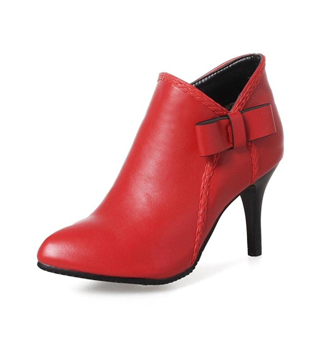 DZW Damen Dame Elegant Spitz High Heels Schuhe Schuhe Schuhe Schöne Court Schuhe 40 rot Persönlichkeit 8a55f1