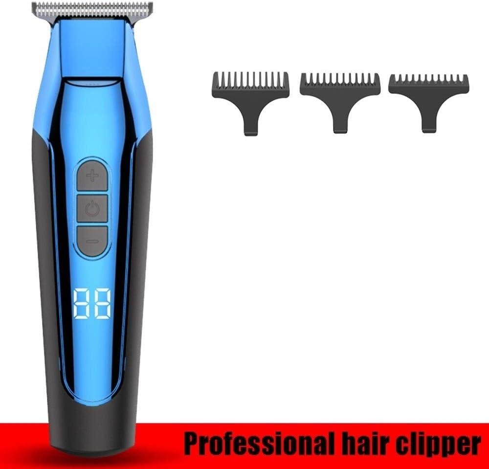 DWLXSH De cortar el pelo, profesional sin cuerda del condensador de ajuste del pelo con el límite de peine, recargables aceite de la aguja maquinilla eléctrica USB, cuerpo completo lavable, impermeabl
